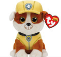 Paw Patrol Beanie Boos TY Rubble Plush Toy