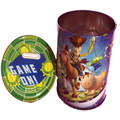 "Toy Story Round Tin Coin Bank - ""Game On!"""