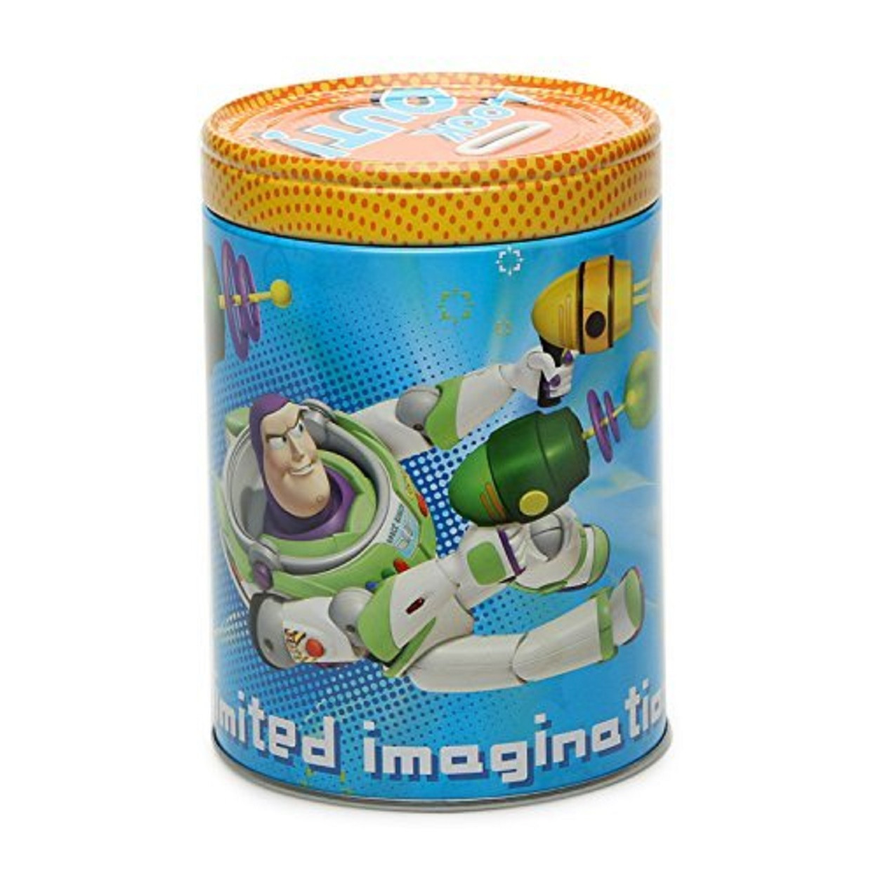 "Toy Story Round Tin Coin Bank - ""Look Out!"""