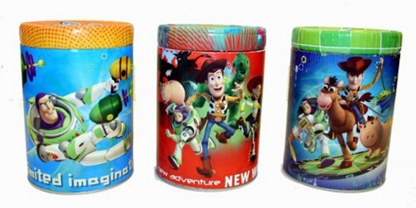 Toy Story Bundle of 3 Tin Coin Banks