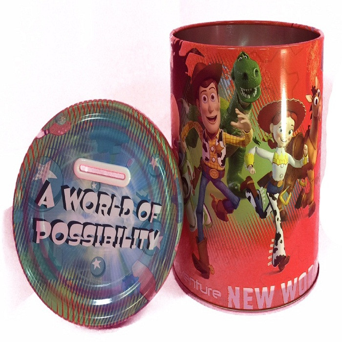 """Toy Story Round Tin Coin Bank - """"A World of Possibility"""""""