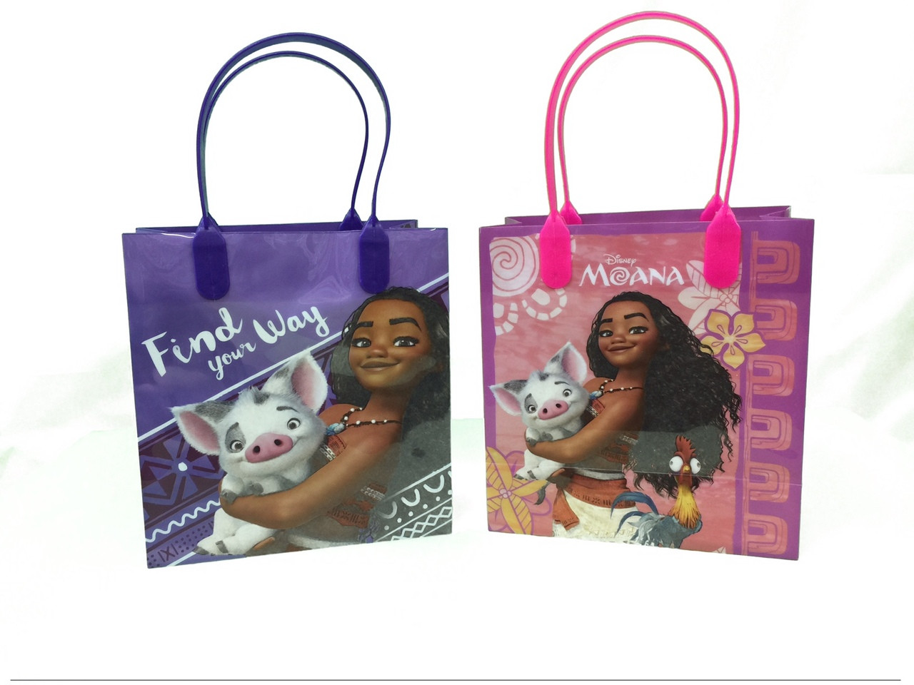 Moana Pack of 12 Party Favor Reusable 7in Goodie Bags
