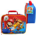 Super Mario Bros. Red Rectangluar Shaped Lunch-bag