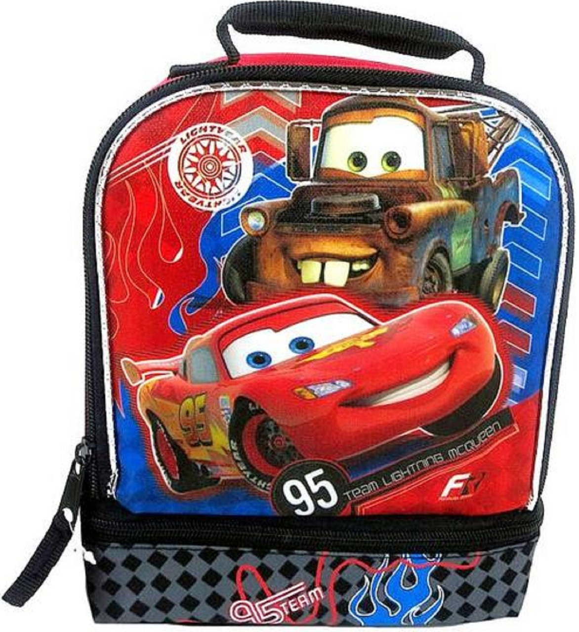 Disney Cars Lightning McQueen & Mater Insulated Lunch Bag Lunch Box