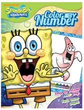 Spongebob Squarepants Color by Number 20pg Color By Number Coloring Book