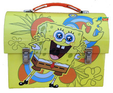 Spongebob Squarepants Dome Tin School Lunchbox Lunch Box