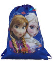 Drawstring Bag - Frozen Princess Anna Elsa Cloth String Bag Sack Pack - Blue