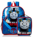 Thomas The Train 16 Inch Large Backpack With Vertical Lunch Box