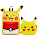 Pokemon 16 Inch Large Backpack With Lunch Box Ears 3D - Pikachu