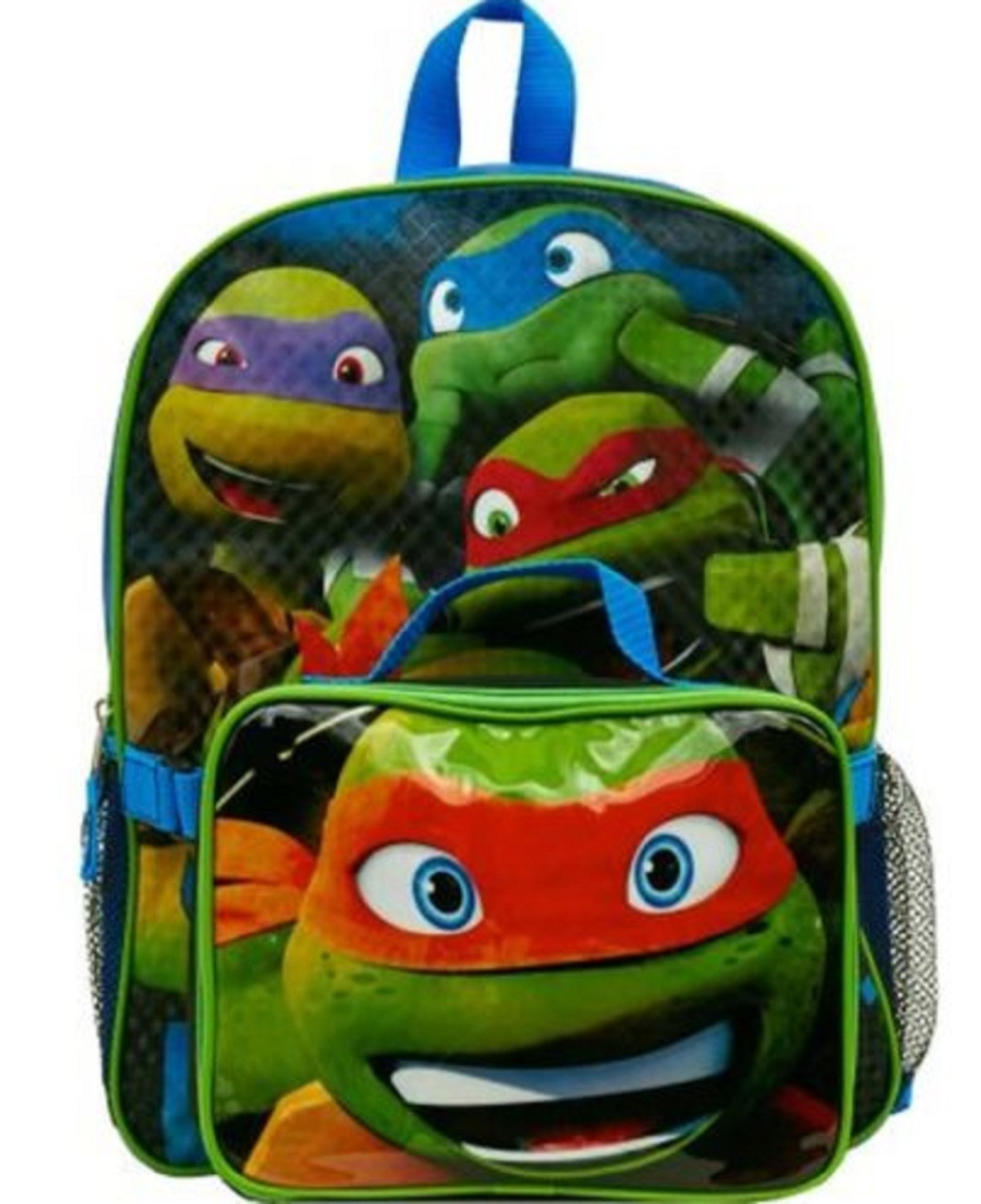 92a39076be Teenage Mutant Ninja Turtles 16 Inch Large Backpack With Lunch Box. Loading  zoom
