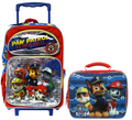 Paw Patrol 16 Inch Large Backpack With Lunch Red/blue - Is On a Roll