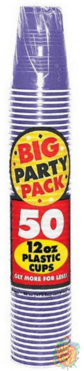 Big Party Pack 16 oz Plastic Cups - New Purple
