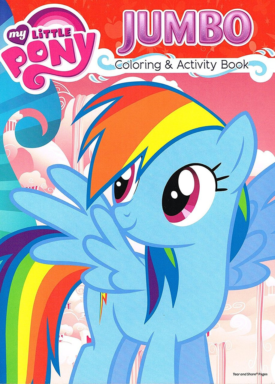 My Little Pony Jumbo 96 pg. Coloring And Activity Book - Rainbow Dash