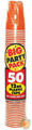 Big Party Pack 12 oz Plastic Cups - Orange Peel