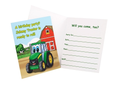 John Deere Birthday Party Invitation - Johnny Tractor