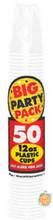Big Party Pack 12 oz Plastic Cups - White