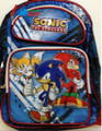 Sonic the Hedgehog Blue Red Black Backpack -Tails, Sonic, Knuckles