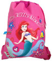 Drawstring Bag - Little Mermaid Princess Ariel Hot Pink Cloth String Bag