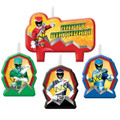 Power Rangers Dino Charge 4 Piece Molded Candle Set