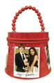 High School Musical Round Collectible Tin Box with Zipper - Red