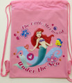 Drawstring Bag - Princess Ariel Little Mermaid Light Pink Cloth String Bag