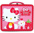 Hello Kitty Square Tin Stationery Small Lunch Box - Cupcake