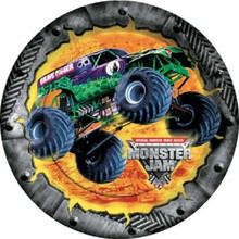Monster Truck Jam 8 Inch Large Round Lunch Dinner Plates
