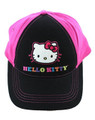 Hello Kitty Onesize Adjustable Baseball Cap - Black Pink