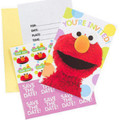 Sesame Street Pack of 8 Invitations - Elmo