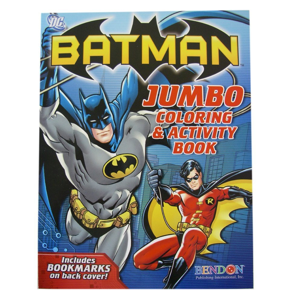 Batman Jumbo 96 pg. Coloring And Activity Book Blue - With Robin