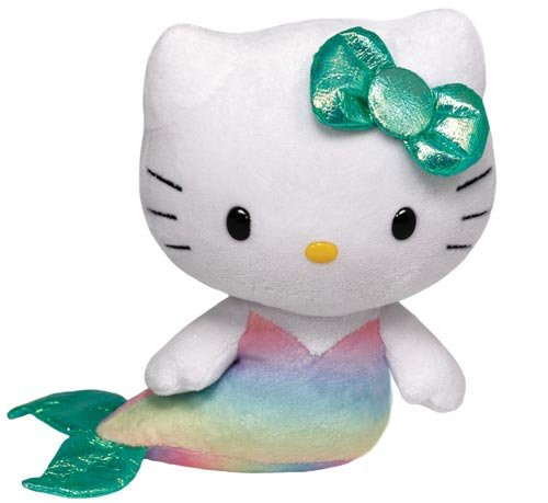 "Hello Kitty Small TY Beanie Baby 6.5"" Plush Toy - Mermaid"