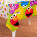 Sesame Street Plastic Table Cover - 1st Birthday