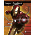 Marvel Iron Man  Pack of 8 Invitations with Envelopes