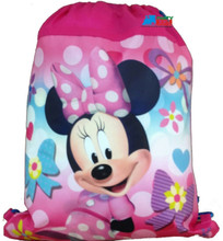 Drawstring Bag - Minnie Mouse Pink Cloth String Bag