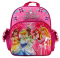 "Princess Ariel Belle Tiana Small 12"" Cloth Backpack Book Bag - Crown"