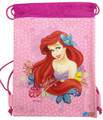 Drawstring Bag - The Little Mermaid Princess Ariel Light Pink Cloth String Bag