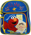 "Elmo Small Toddler 12"" Cloth Backpack Book Bag Pack - Coloring"