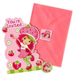 Strawberry Shortcake Pack of 8 Invitations  with Save the Date Stickers