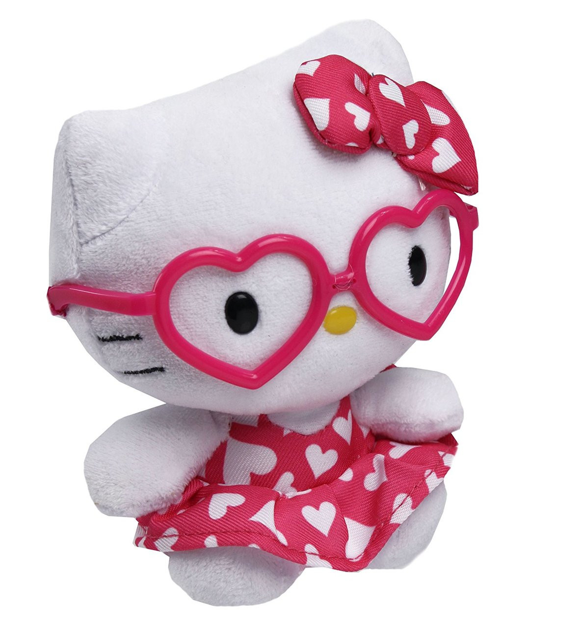 "Hello Kitty Small TY Beanie Baby 6.5"" Plush Toy - Valentine Dress"