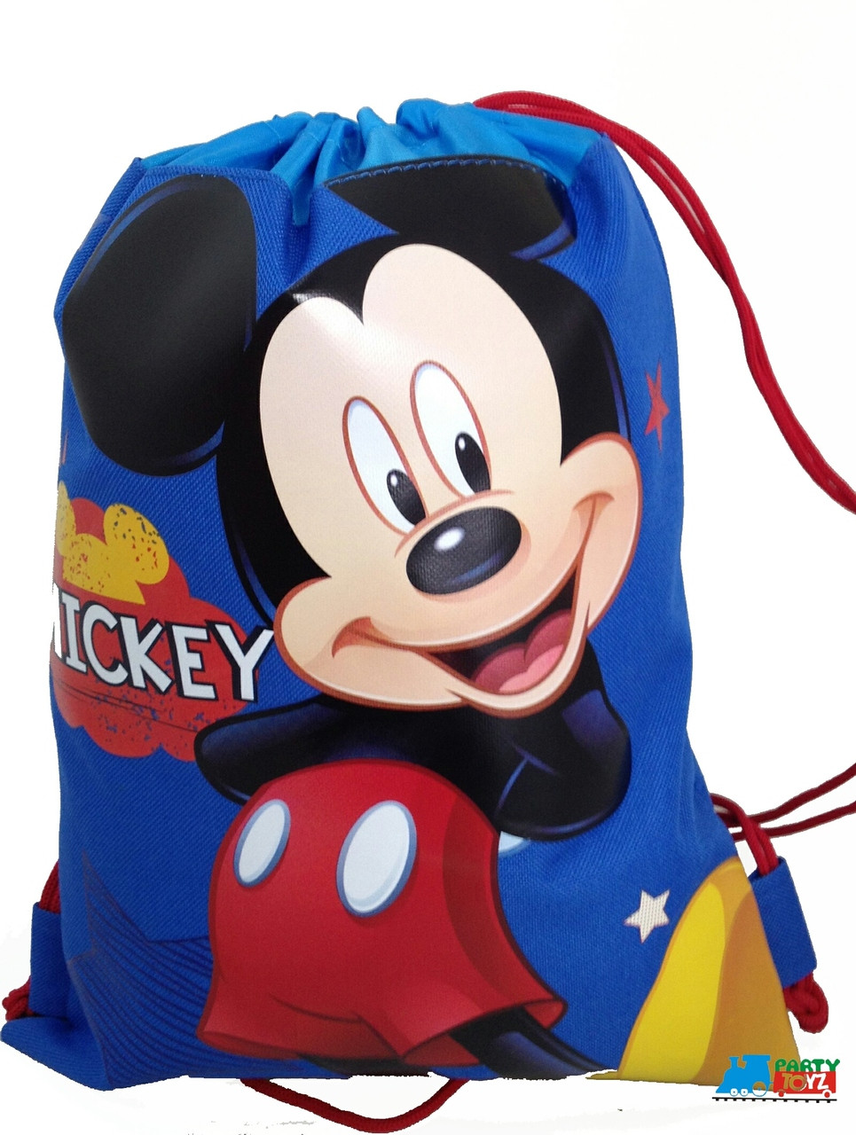 76d53c1e842 Drawstring Bag - Mickey Mouse Cloth Sack Cinch Pack - Blue. Loading zoom