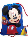 Drawstring Bag - Mickey Mouse Cloth  Sack Cinch Pack - Blue