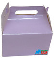 12X Solid Color Lilac Paper Treat Boxes