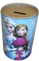 Frozen Princess Anna Elsa Round Tin Coin Bank - Blue