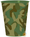 12X Camoflauge Plastic 16 Ounce Reusable Keepsake Favor Cup ( 12 Cups )