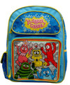 "Yo Gabba Gabba Large 16"" Cloth Backpack Book Bag Pack - Light Blue"