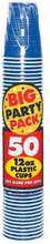 Big Party Pack 12 oz Plastic Cups - Bright Royal Blue