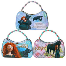 Brave Princess Merida Carry All Tin Scoop Purse with Beaded Handle (Randomly Chosen)