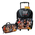"WWE John Cena, Rey Mysterio Large 16""  Rolling Backpack - Combo"