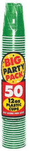 Big Party Pack 16 oz Plastic Cups - Festive Green
