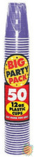 Big Party Pack 12 oz Plastic Cups - New Purple